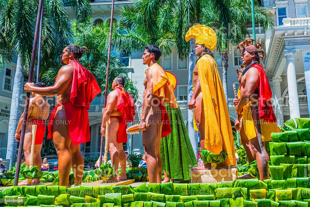 Kamehameha Day Parade stock photo