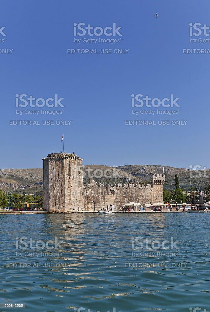 Kamerlengo castle (1437). Trogir, Croatia. UNESCO site stock photo