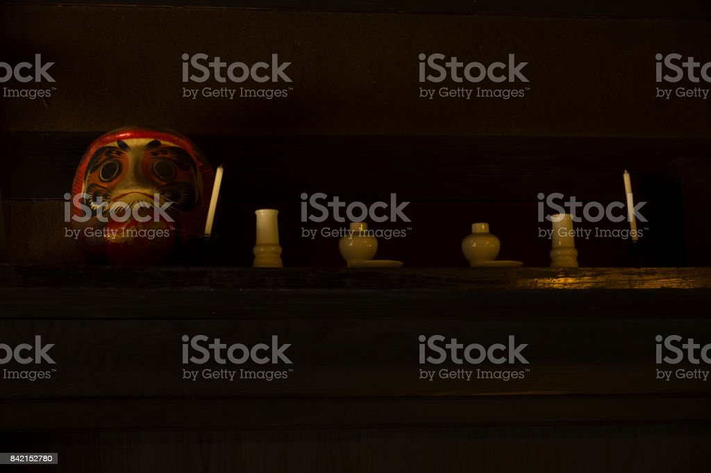 Kamidana (a household Shinto altar) stock photo