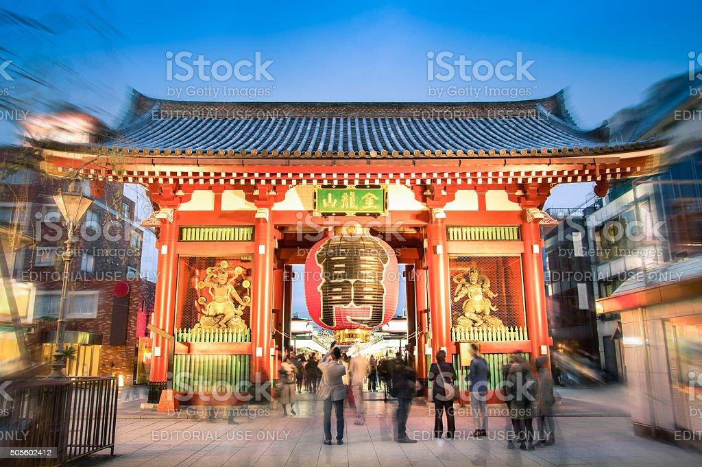 Kaminarimon in Tokyo Japan at temple of Senso-Ji stock photo