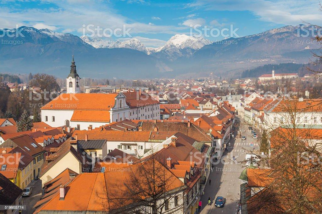 Kamnik town. stock photo