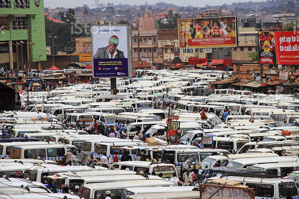 Kampala Central Taxi Park stock photo