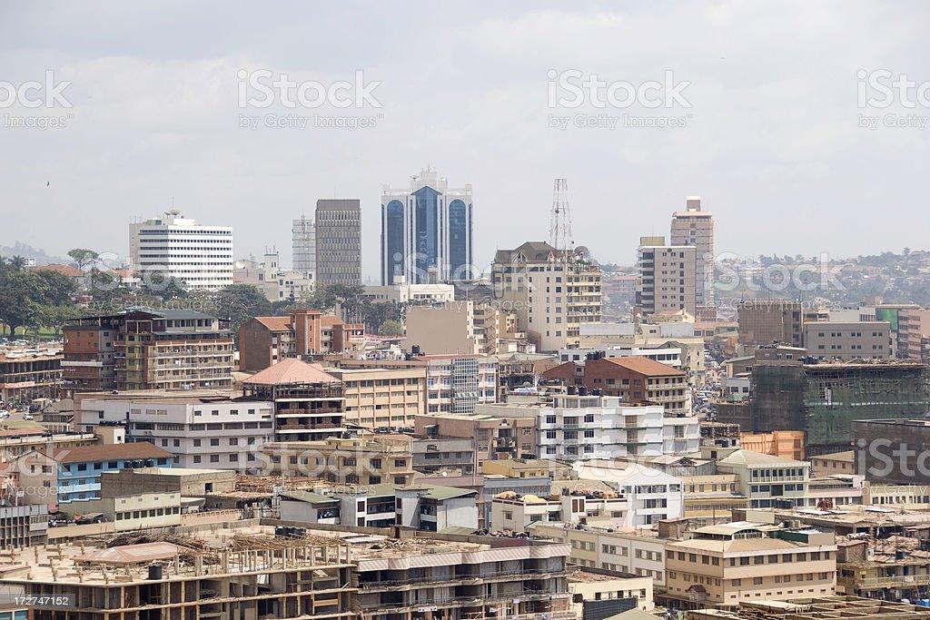 Kampala city view stock photo