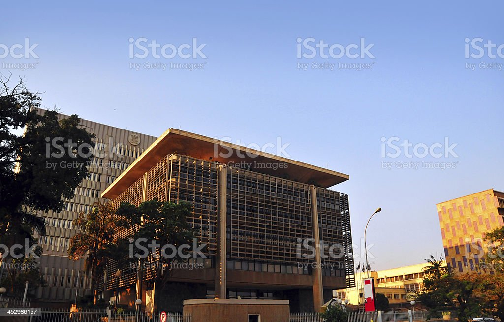 Kampala, Uganda: Bank of Uganda building stock photo