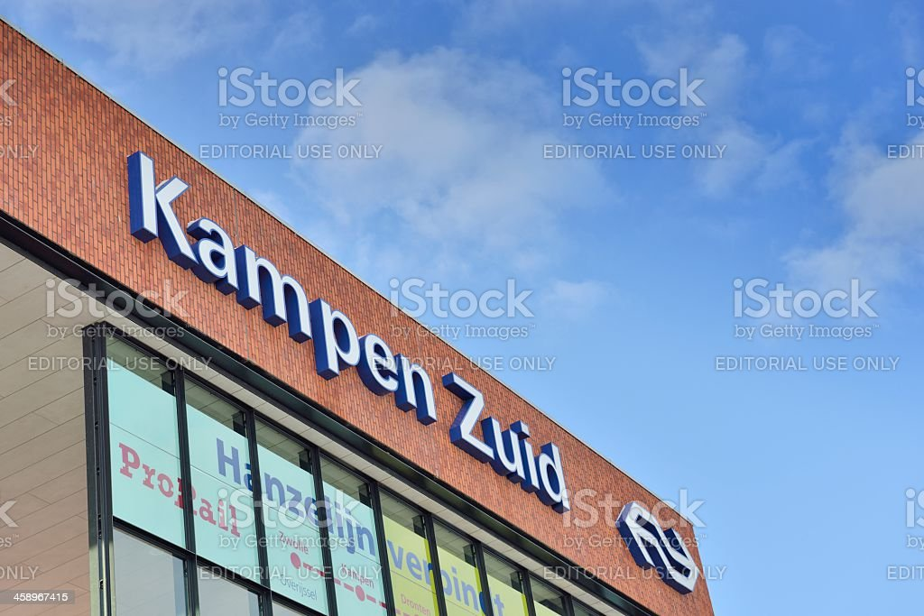 Kampen Zuid train station stock photo