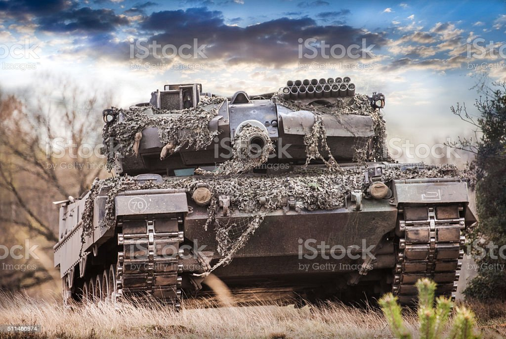 Kampfpanzer Deutschland, main battle tank germany stock photo