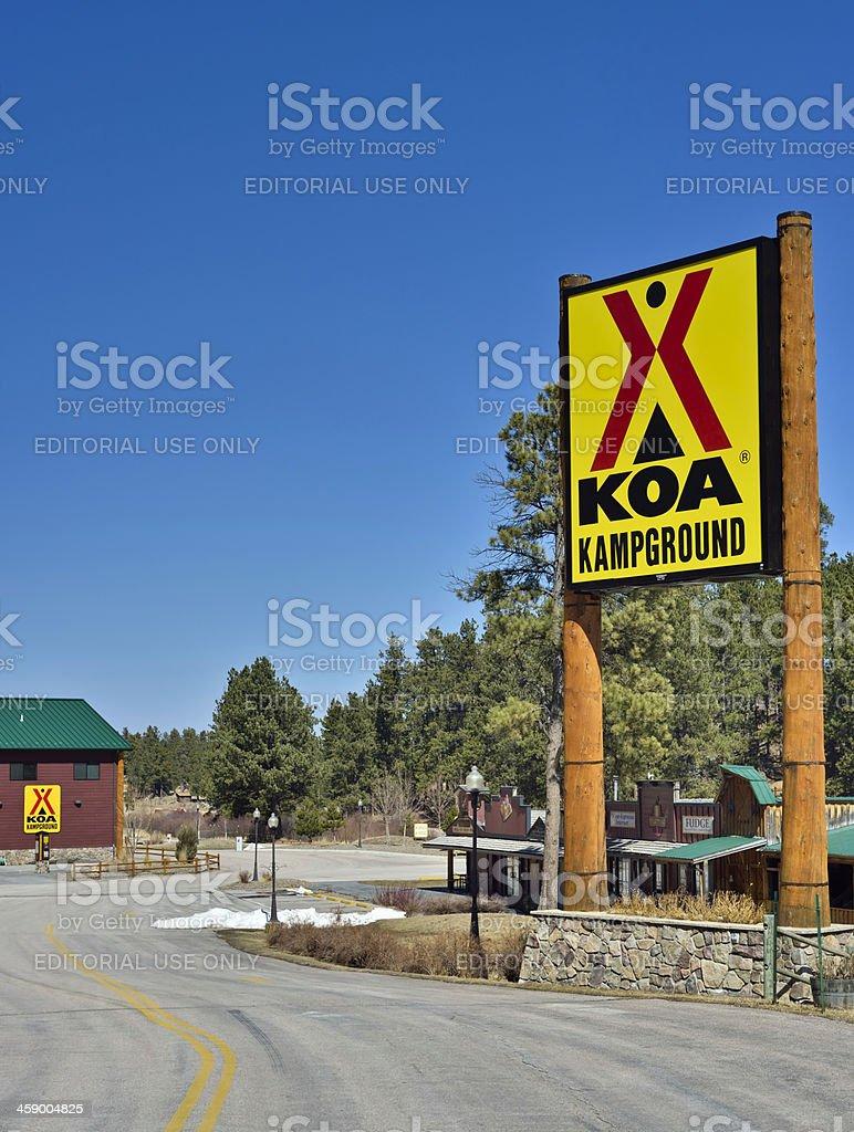 KOA Kampgrounds of America royalty-free stock photo
