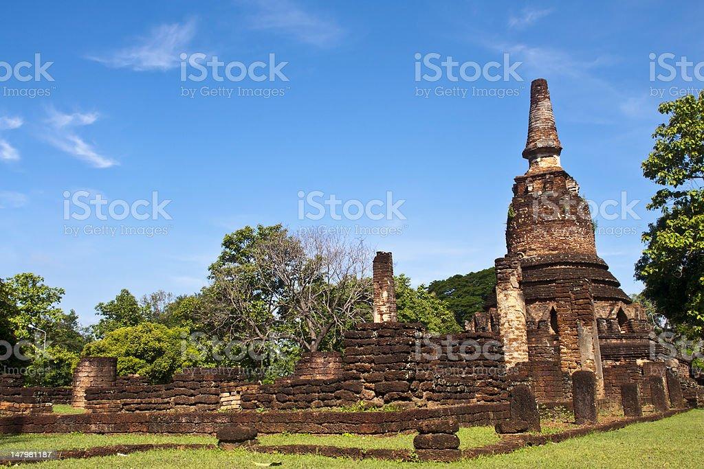 Kamphaeng Phet Historical Park zbiór zdjęć royalty-free