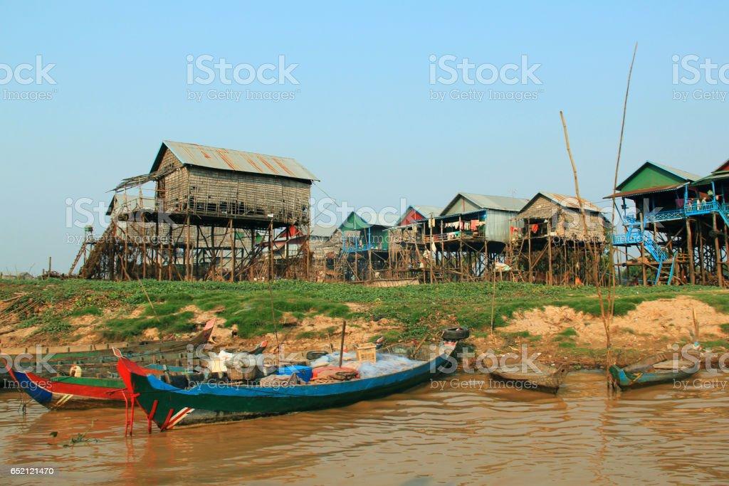 Kampong Plug floating village, Cambodia stock photo