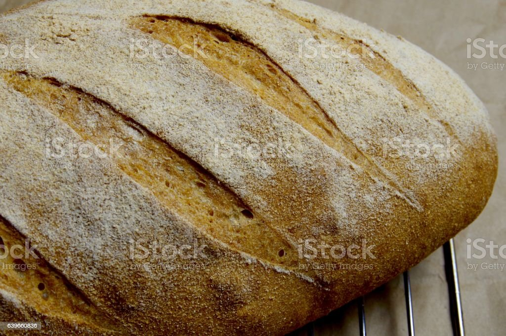 Kamut bread up close stock photo