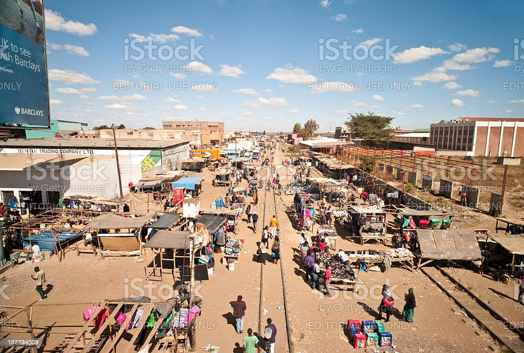 Kamwala outdoor market, Lusaka stock photo