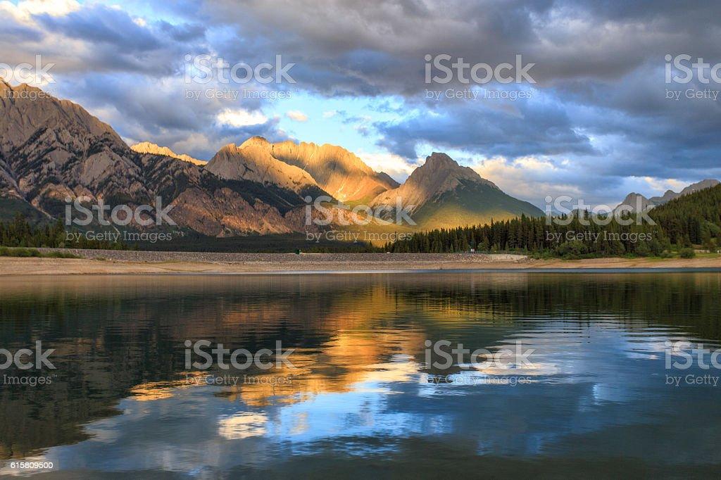 Kananaskis Lake Sunset stock photo