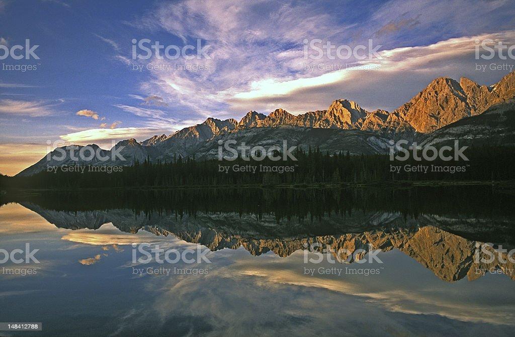 Kananaskis Reflection stock photo