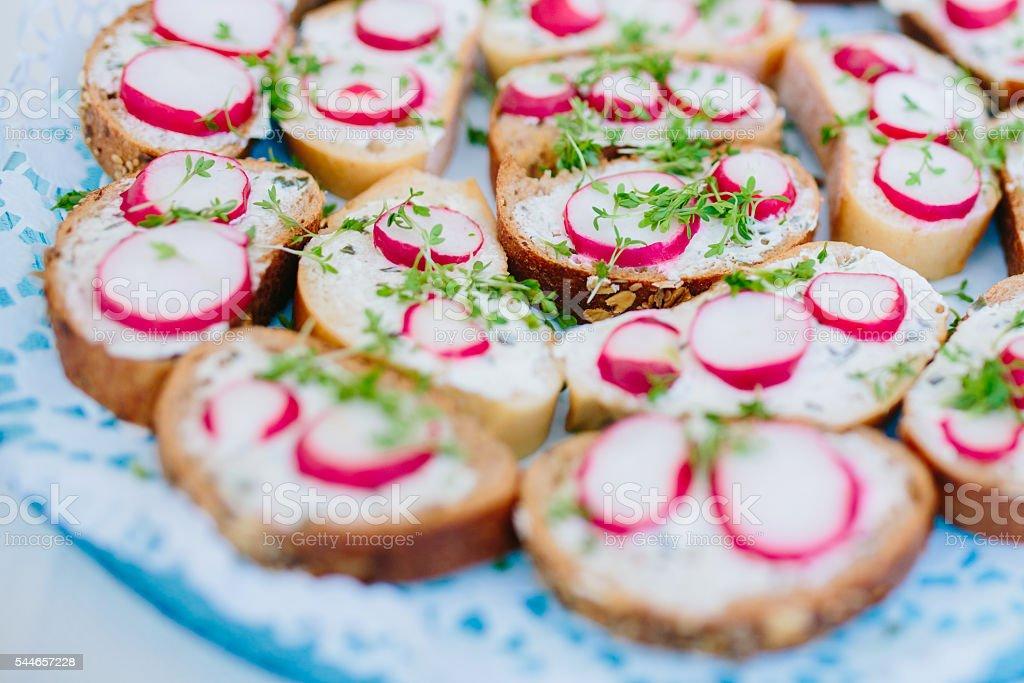 Kanapees Snacks stock photo