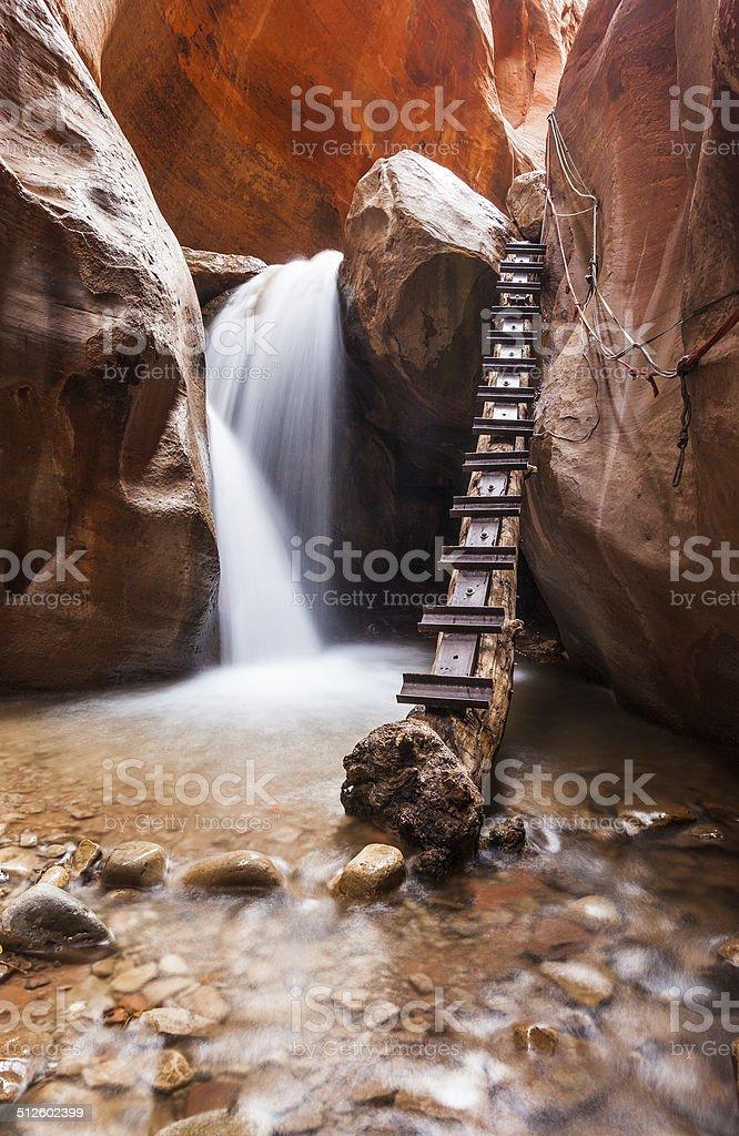 Kanarra creek slot canyon in Zion national park, Utah stock photo