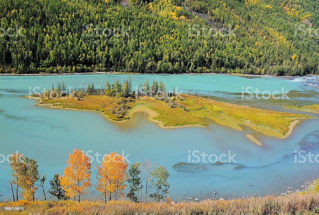 Kanas Nature Reserve, Xinjiang, China stock photo