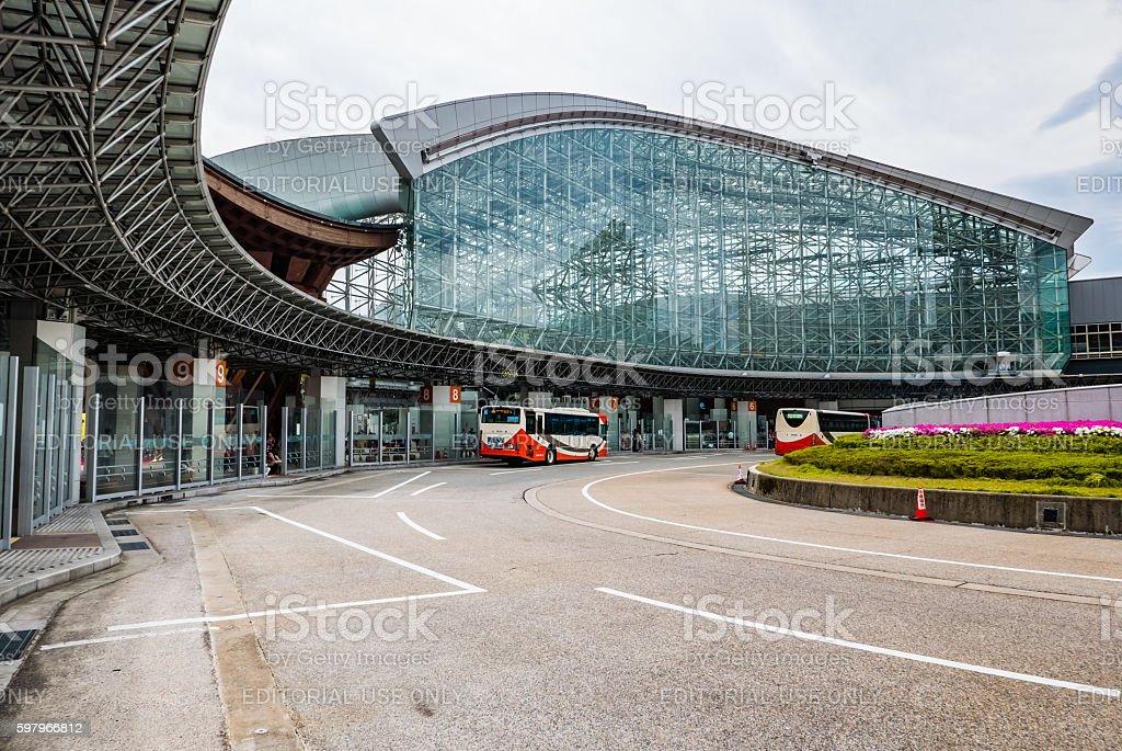 Kanawaza bus station stock photo
