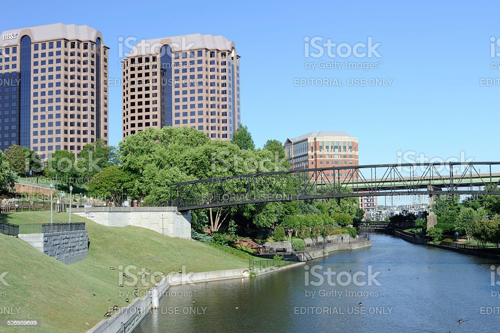 Kanawha Canal in Richmond of Virginia stock photo
