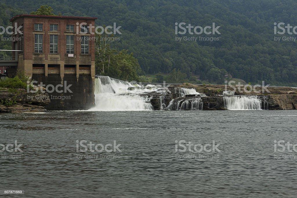 Kanawha Falls Dam stock photo