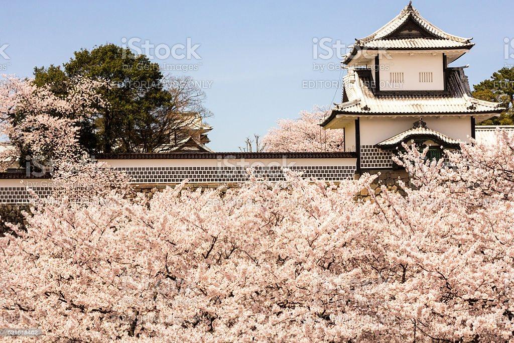 Kanazawa Castle in Ishikawa Prefecture, Japan stock photo