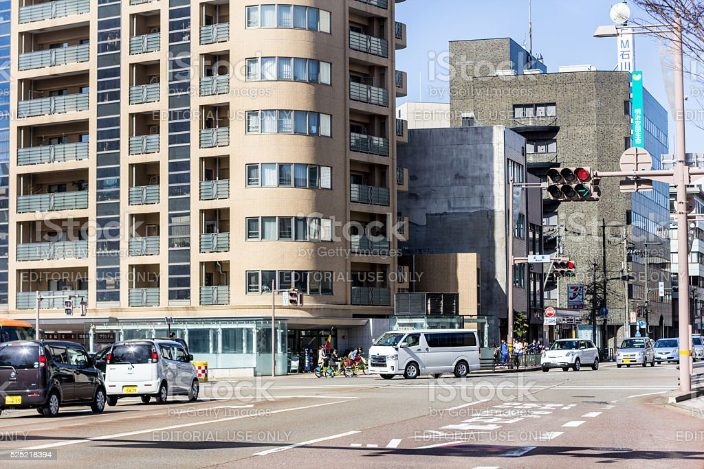 Kanazawa in Honshu, Japan stock photo