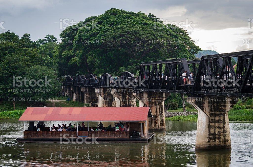 Kanchanaburi (Thailand), The Bridge on the River Kwai stock photo