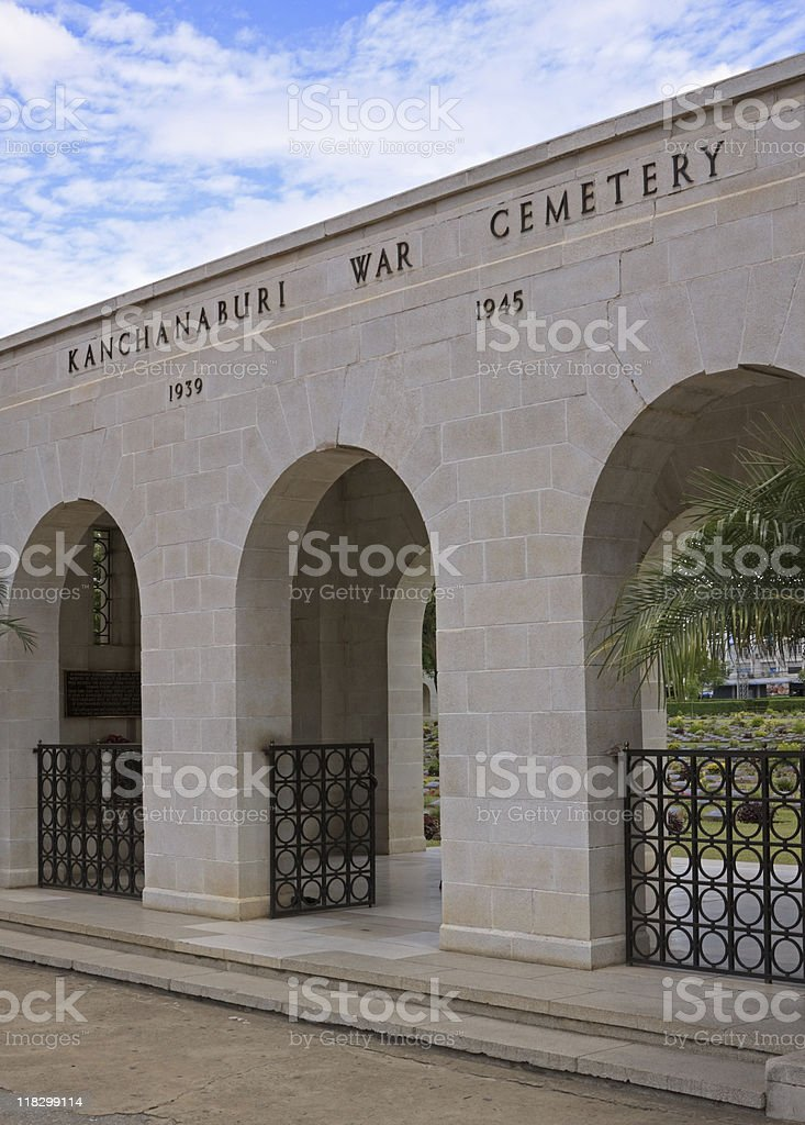 Kanchanaburi War Cemetery royalty-free stock photo