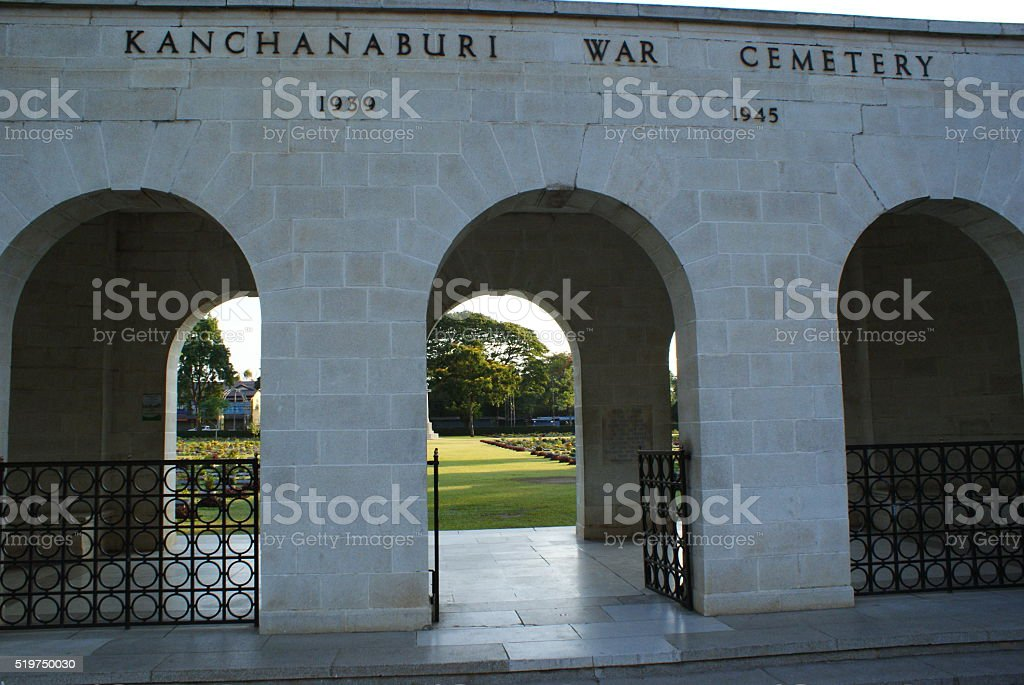 Kanchanaburi War Cemetery stock photo