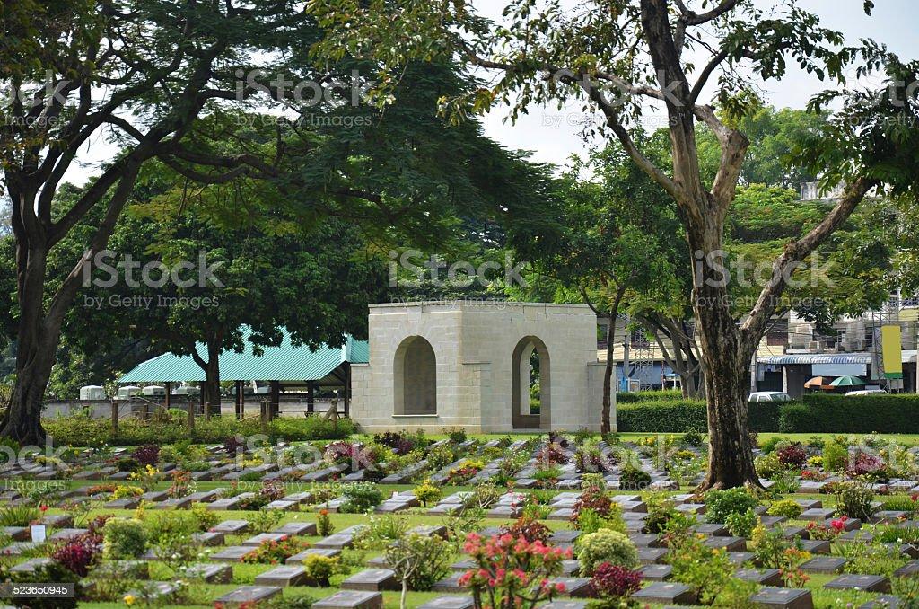 Kanchanaburi War Cemetery (Don Rak) Thailand stock photo