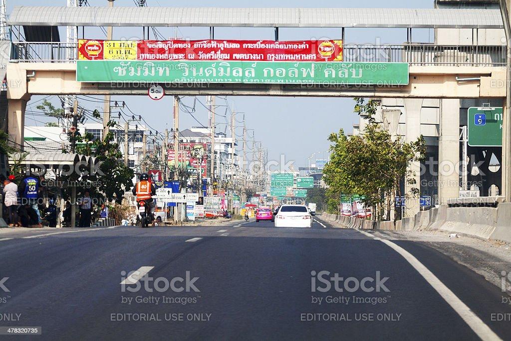 Kanchanaphisek ROad and easter tollway stock photo