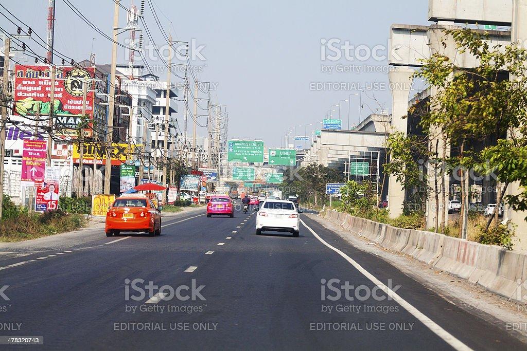 Kanchanaphisek Road stock photo