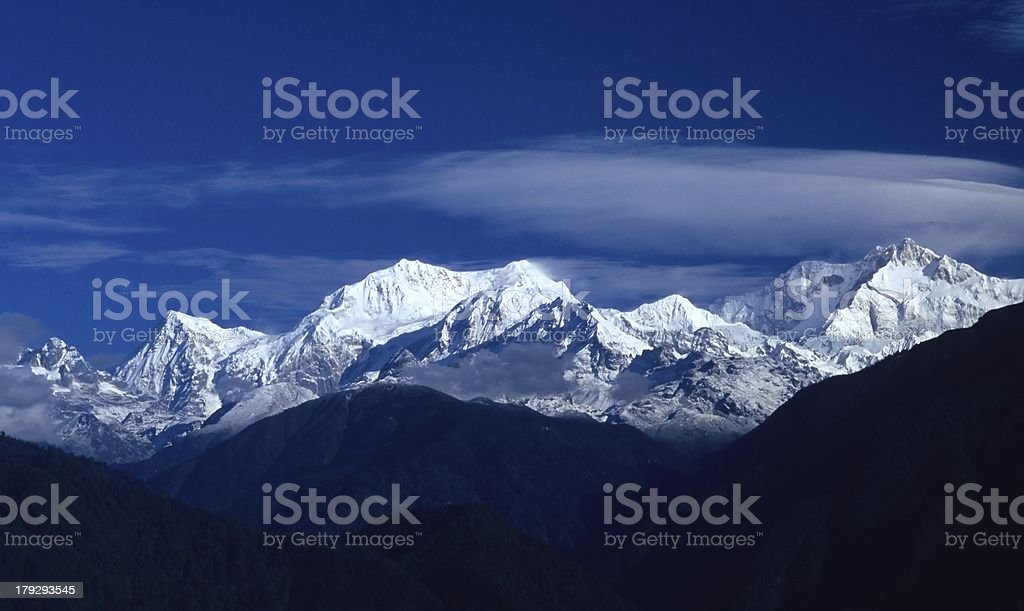 Kanchendzonga - Kangchenjunga royalty-free stock photo