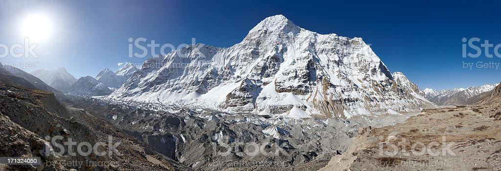Kanchenjunga. Everest Circuit. Nepal motives. stock photo