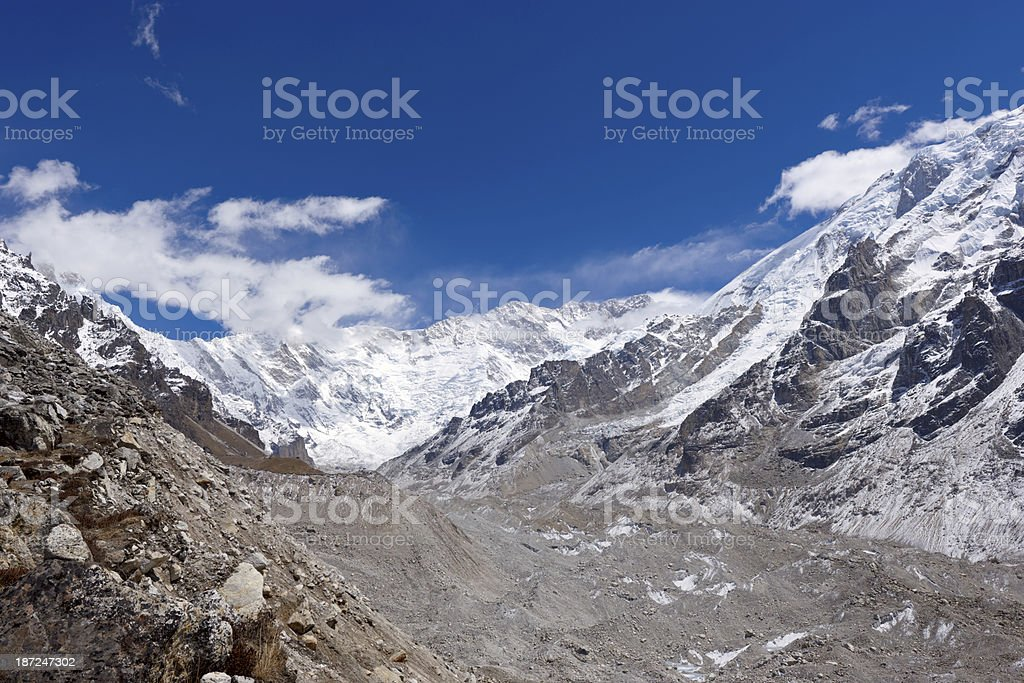 Kanchenjunga. Everest Circuit. Nepal motives royalty-free stock photo