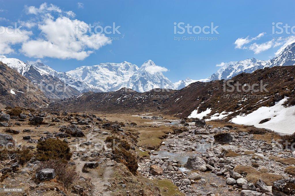 Kanchenjunga. Everest Circuit. Nepal motives stock photo