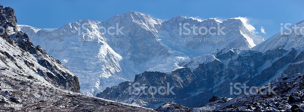 Kanchenjunga. Everest Circuit. Nepal motives. stock photo