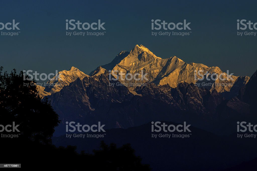 Kanchenjunga mountain range, Sikkim, India royalty-free stock photo