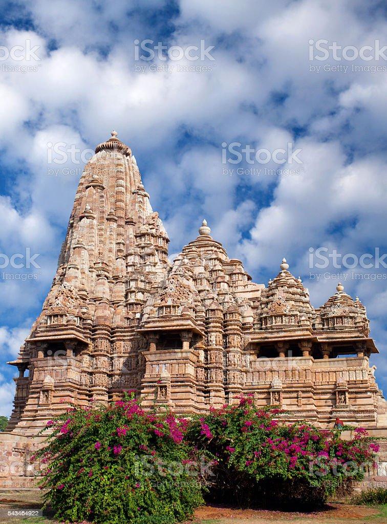Kandariya Mahadeva temple in Khajuraho, India stock photo
