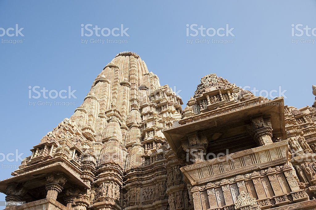 Kandariya Mahadeva Temple. Khajuraho. royalty-free stock photo