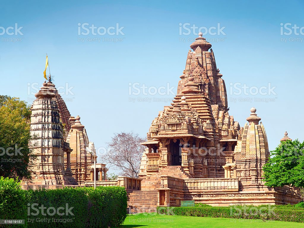 Kandariya Mahadeva Temple stock photo