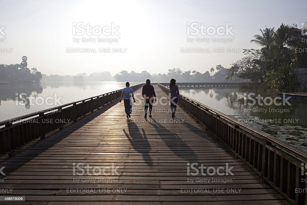 Kandawgyi lake, Myanmar stock photo