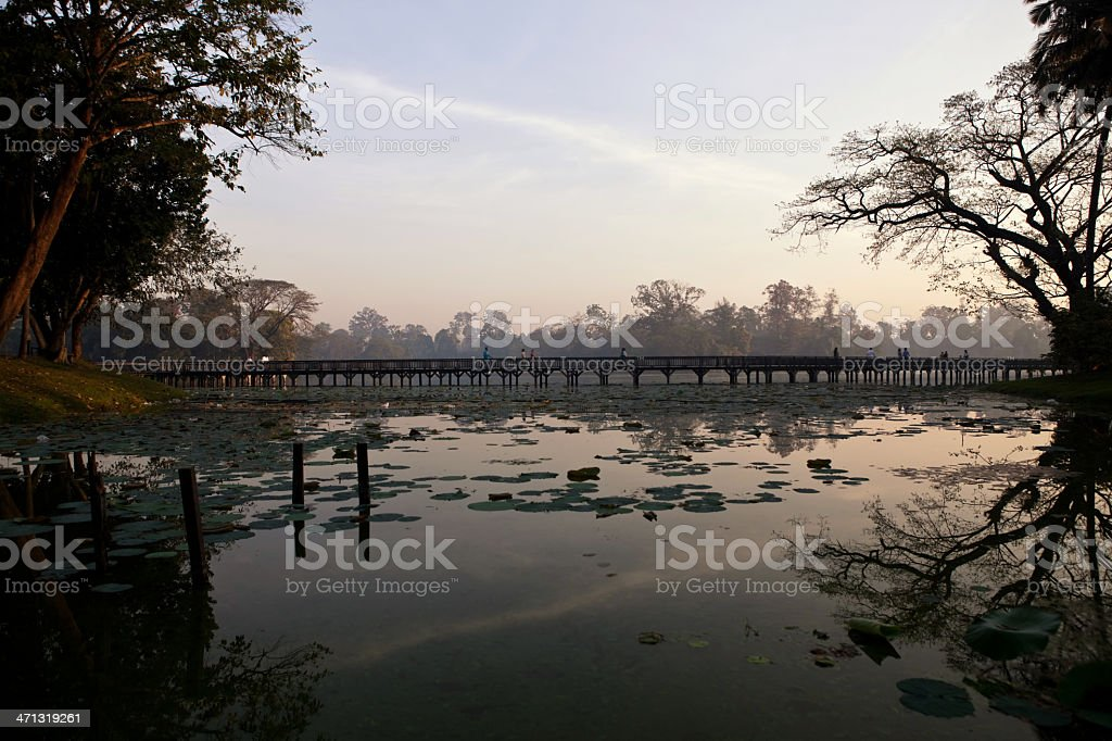 Kandawgyi lake stock photo