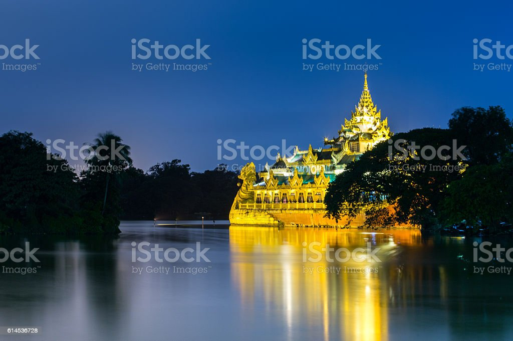 Kandawgyi park, Myanmar stock photo