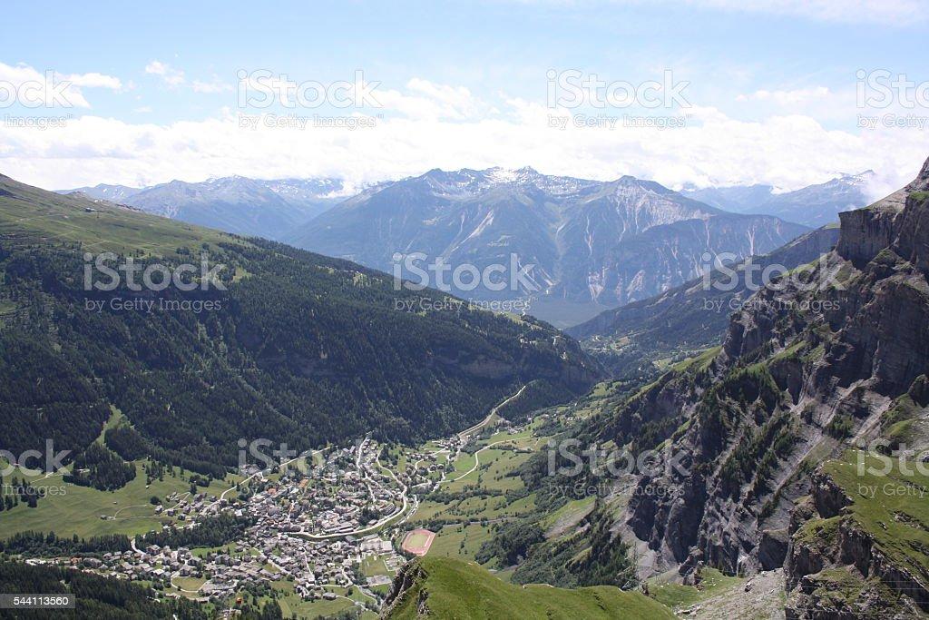 Kandersteg mountain scene stock photo