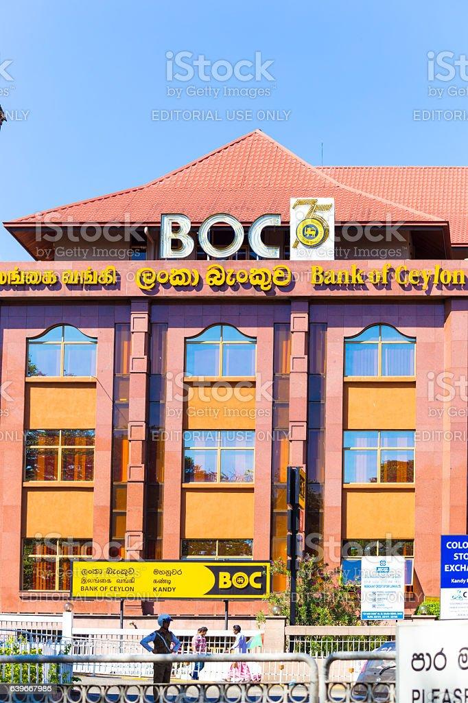 Kandy Bank Of Ceylon Building Front Facade stock photo