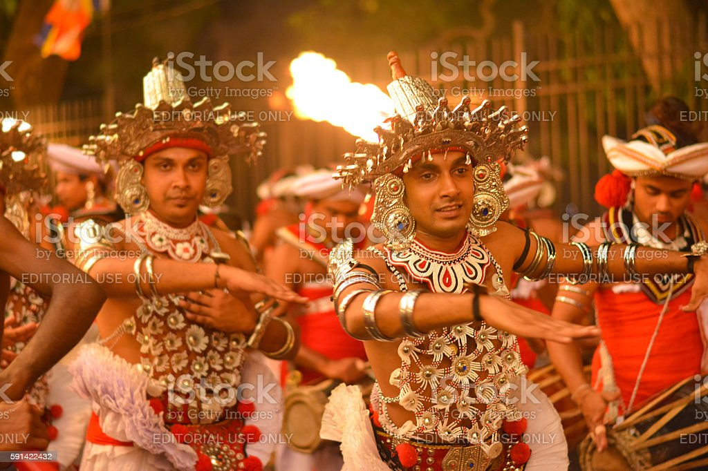 Kandy Esala procession, Sri Lanka stock photo