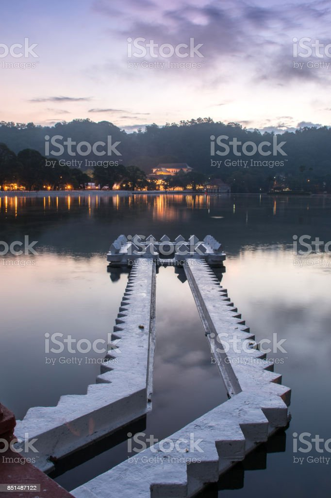 Kandy Lake and the Temple of the, Sri Lanka, Asia stock photo