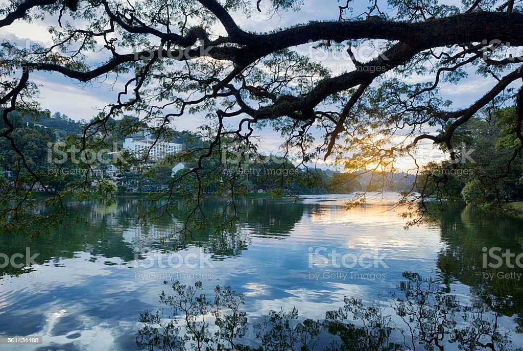 Kandy Lake, Sri Lanka stock photo