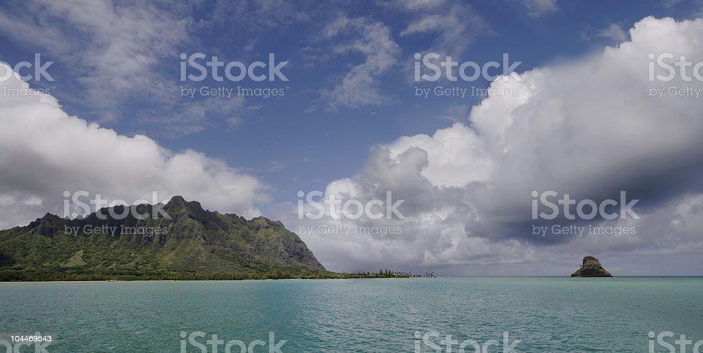 Kanehoe Bay Panorama royalty-free stock photo