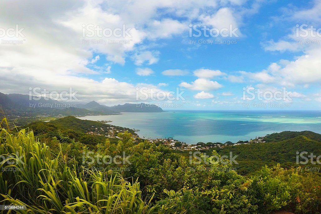 Kaneohe Bay Travel Location Tropical Landscape View stock photo